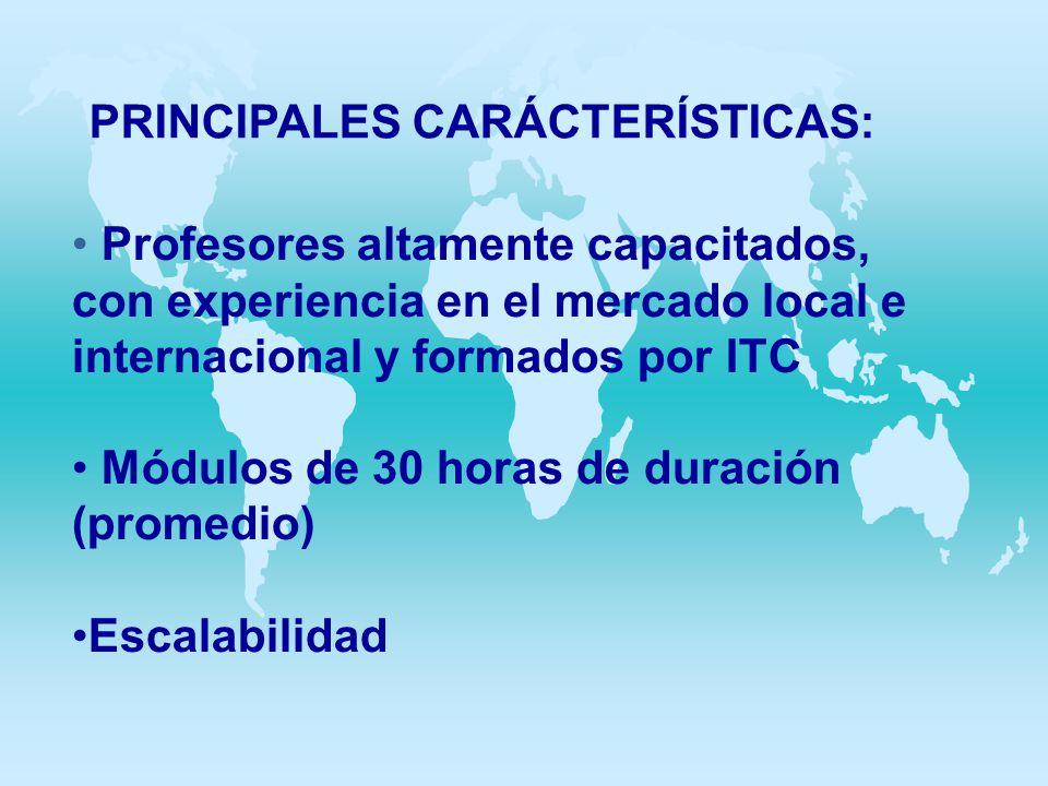 PRINCIPALES CARÁCTERÍSTICAS:
