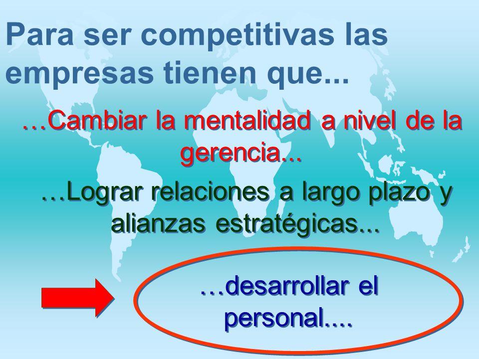 Para ser competitivas las empresas tienen que...
