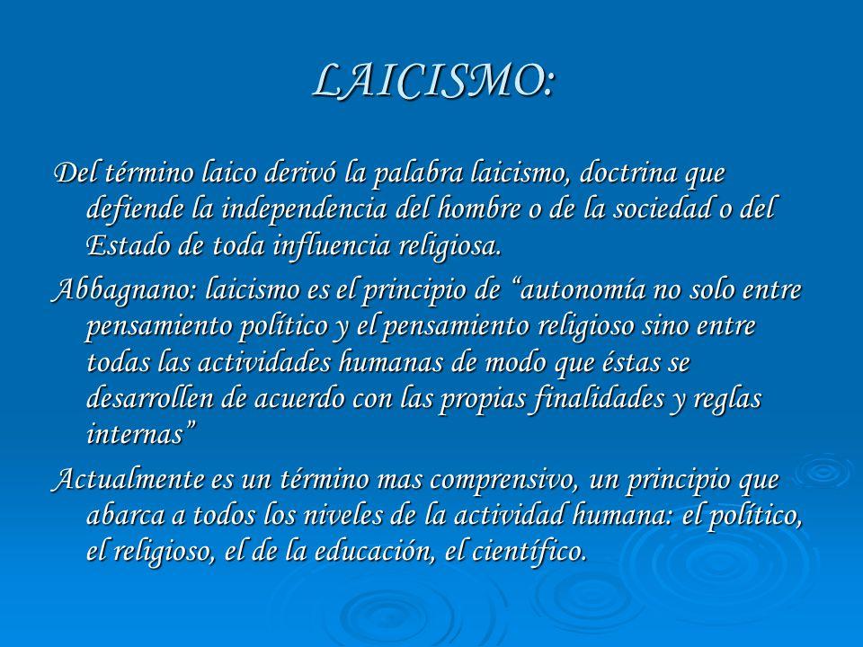 LAICISMO: