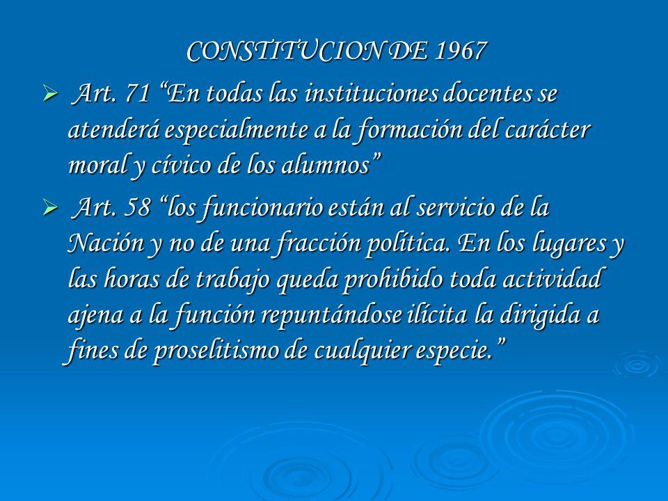 CONSTITUCION DE 1967