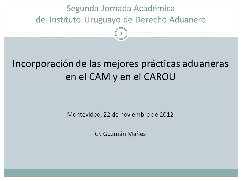 Segunda Jornada Académica del Instituto Uruguayo de Derecho Aduanero