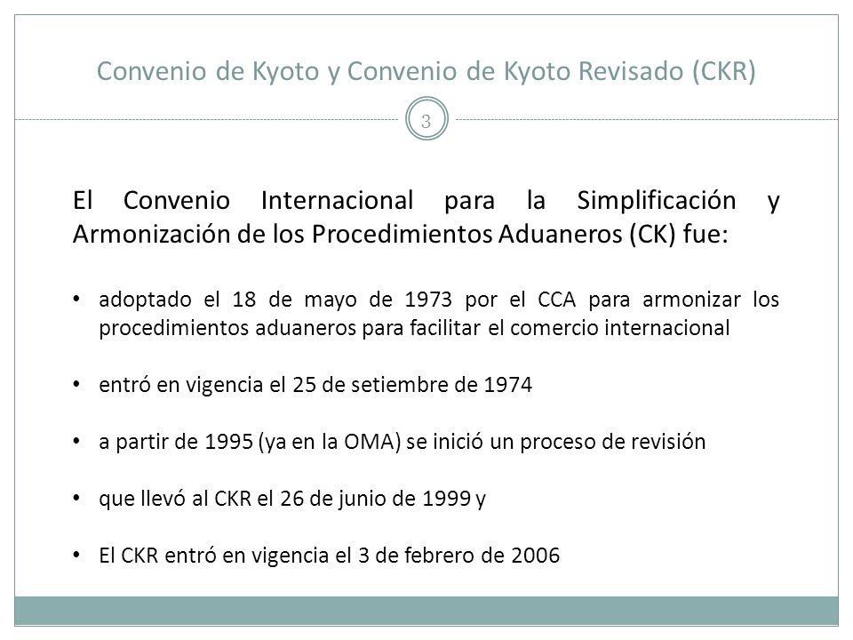 Convenio de Kyoto y Convenio de Kyoto Revisado (CKR)