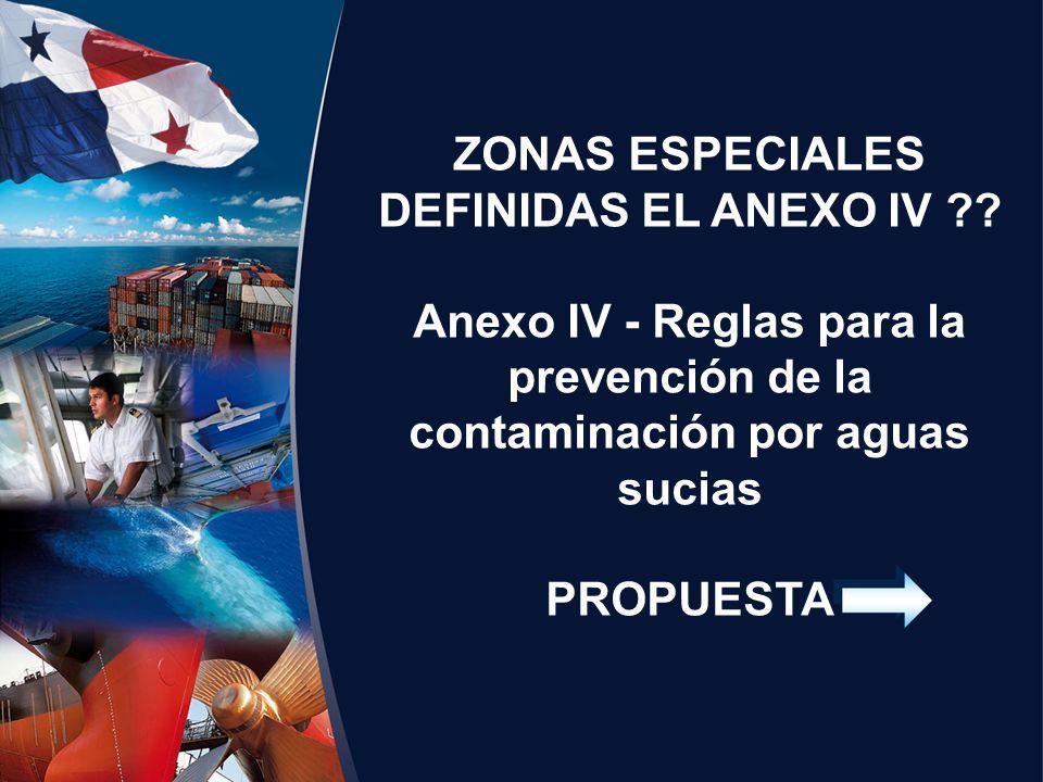 ZONAS ESPECIALES DEFINIDAS EL ANEXO IV