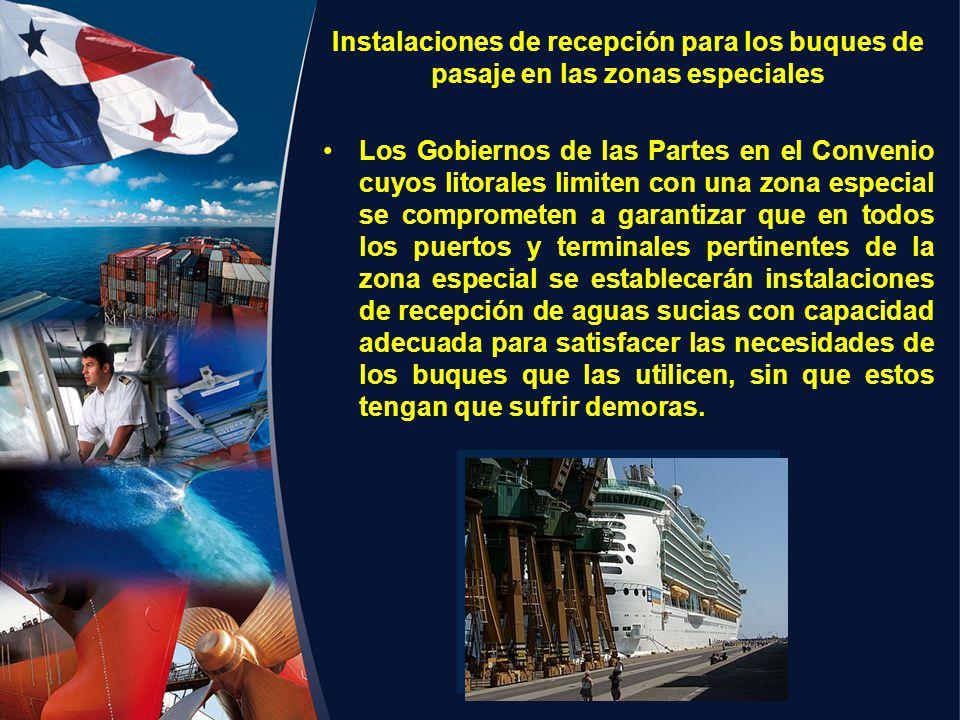 Instalaciones de recepción para los buques de pasaje en las zonas especiales