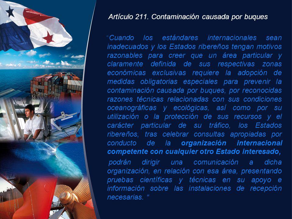 Artículo 211. Contaminación causada por buques