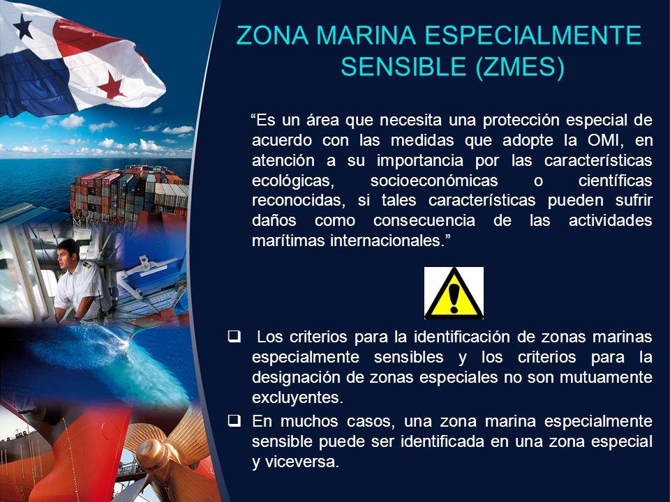 ZONA MARINA ESPECIALMENTE SENSIBLE (ZMES)