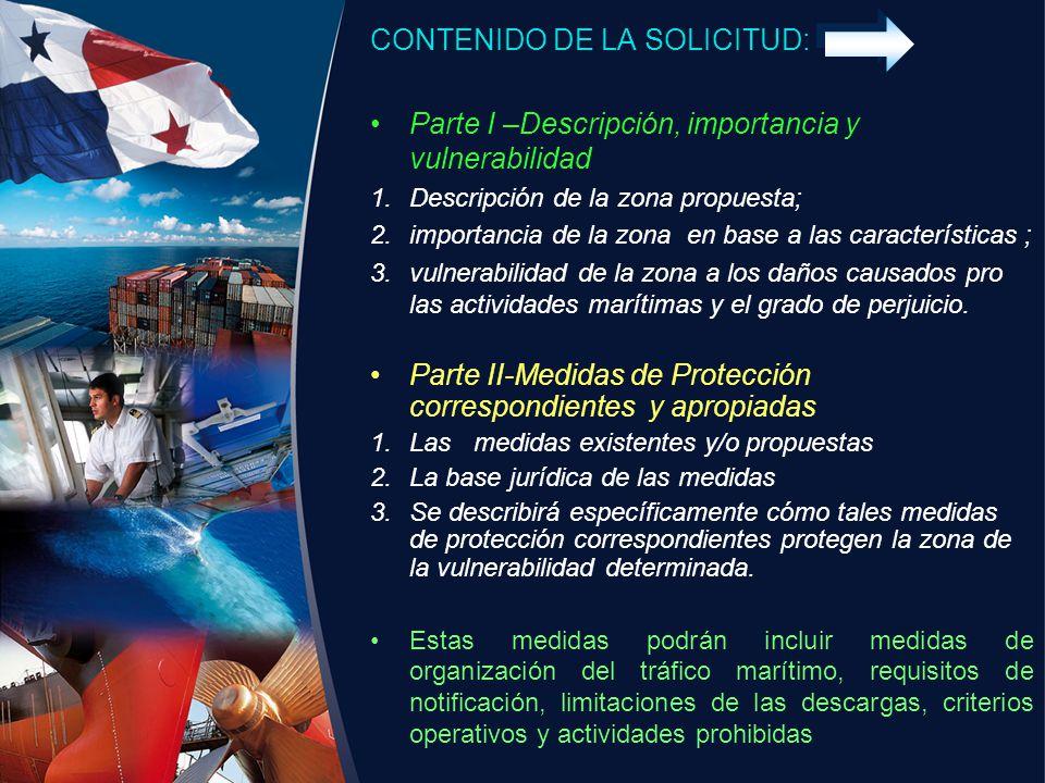 CONTENIDO DE LA SOLICITUD: