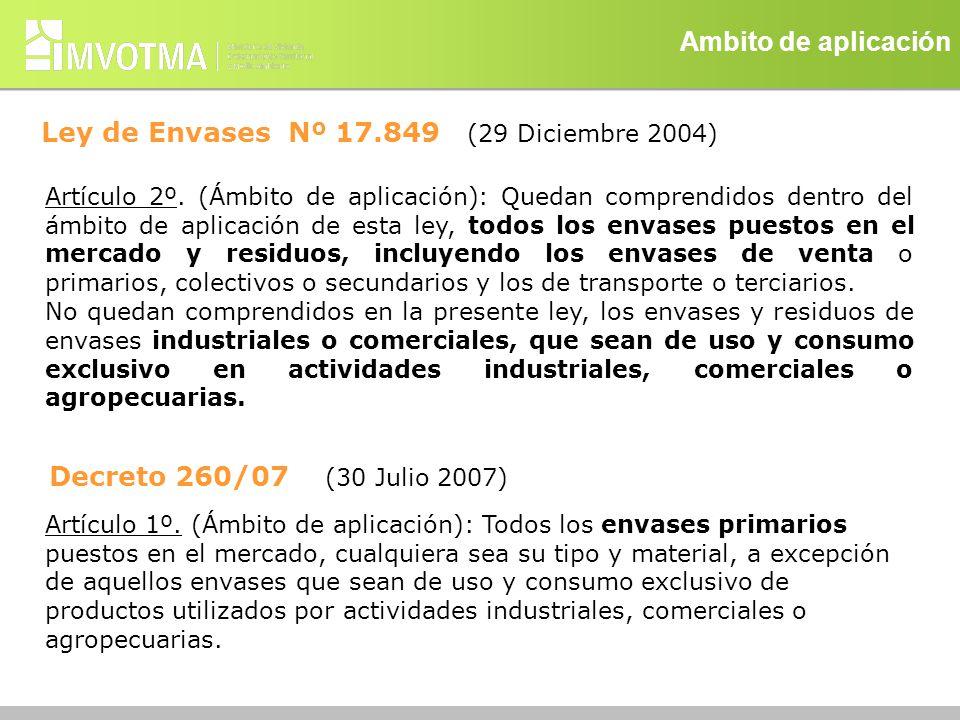 Ley de Envases Nº 17.849 (29 Diciembre 2004)
