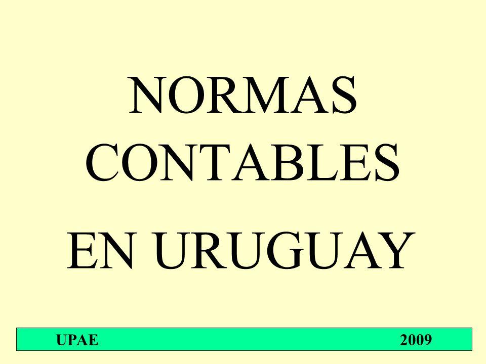 NORMAS CONTABLES EN URUGUAY UPAE 2009