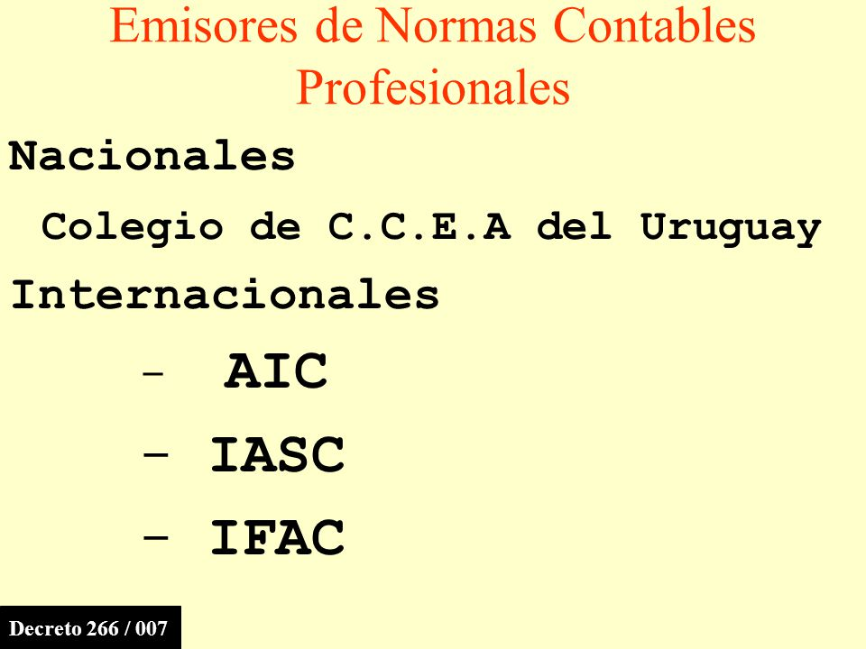 Emisores de Normas Contables Profesionales