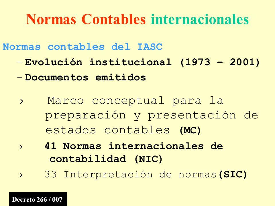 Normas Contables internacionales
