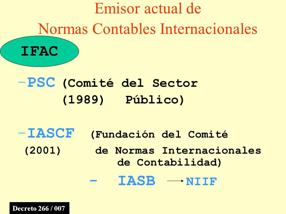 Emisor actual de Normas Contables Internacionales