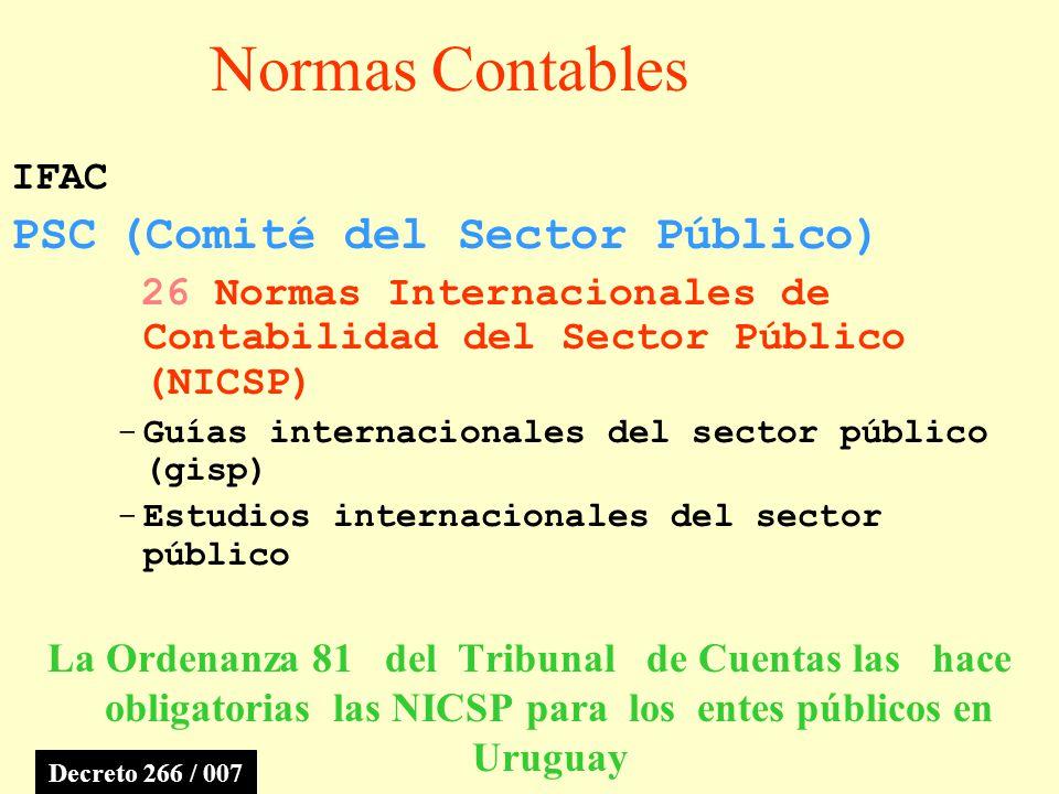 Normas Contables PSC (Comité del Sector Público) IFAC