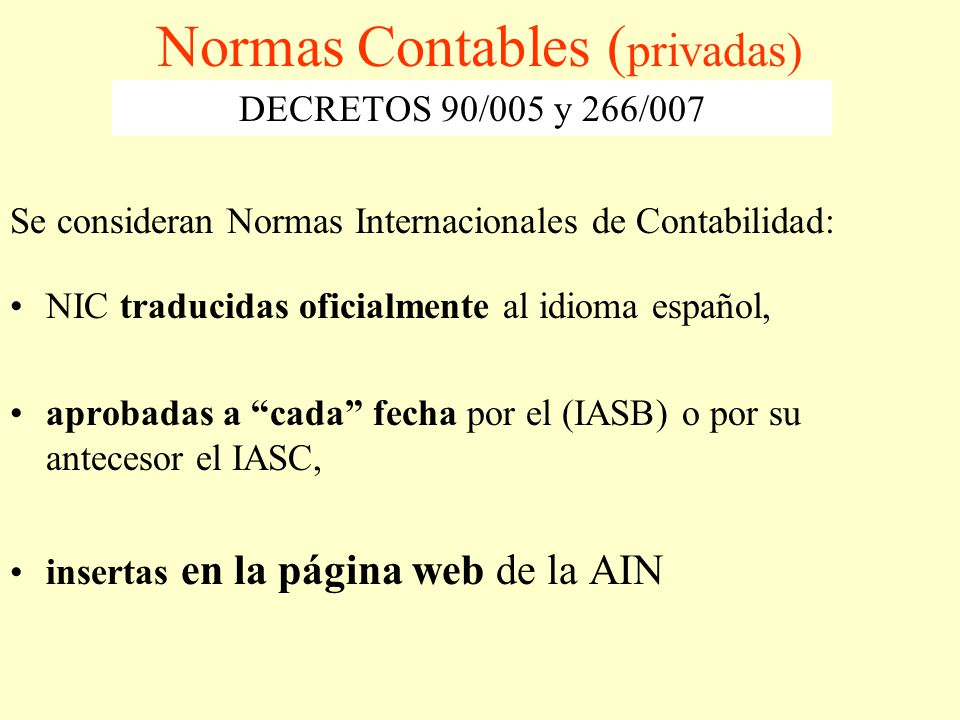 Normas Contables (privadas)