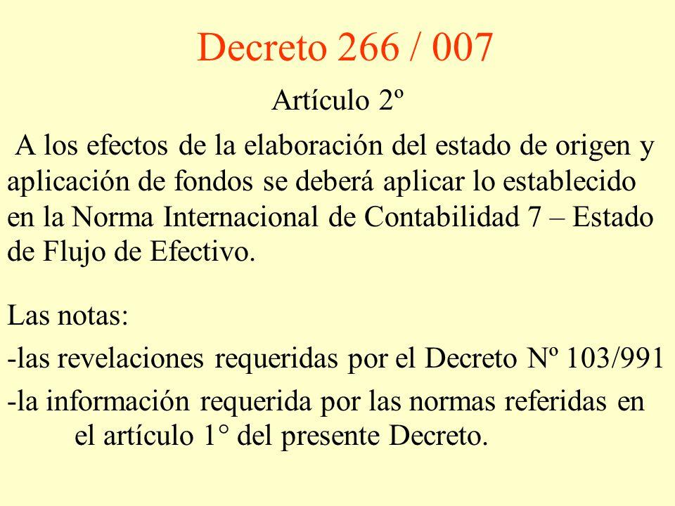 Decreto 266 / 007 Artículo 2º.