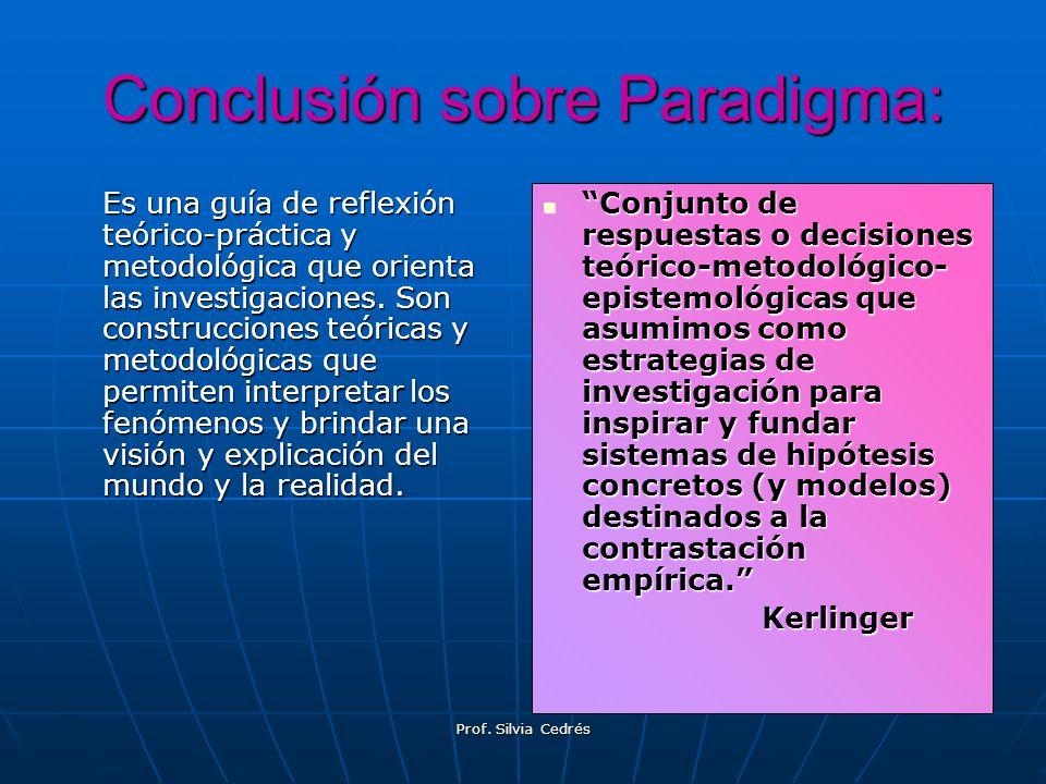 Conclusión sobre Paradigma: