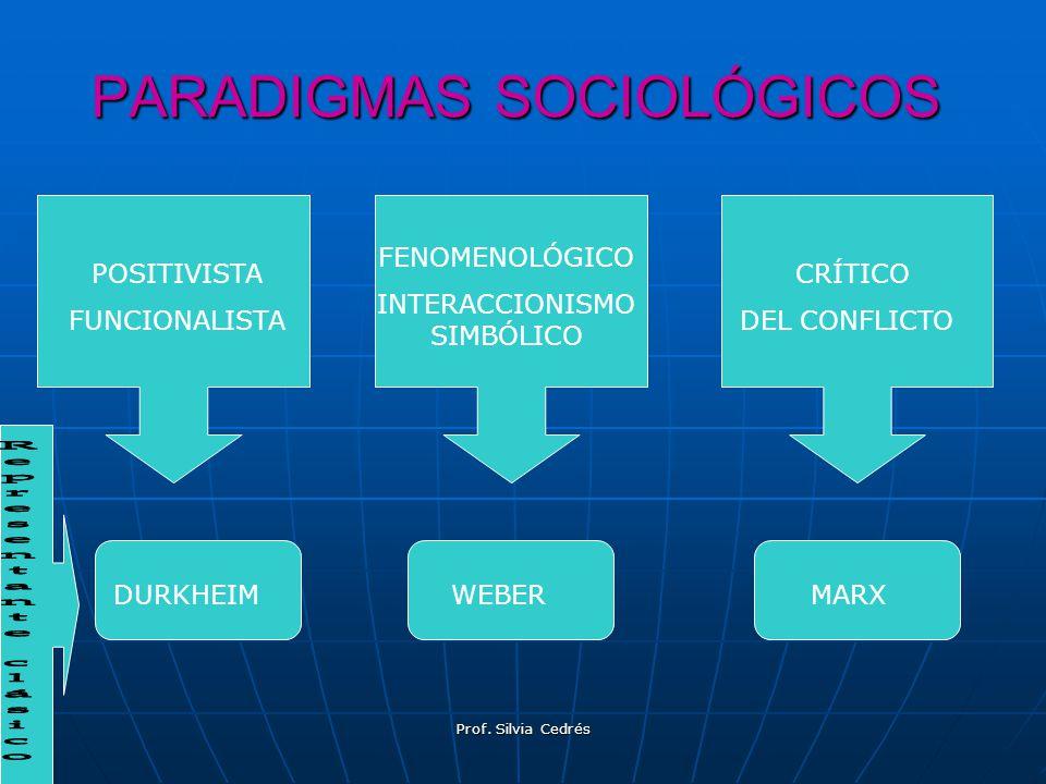 PARADIGMAS SOCIOLÓGICOS