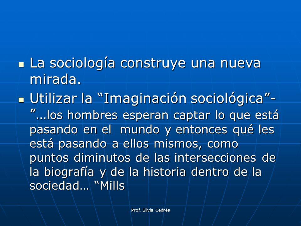 La sociología construye una nueva mirada.