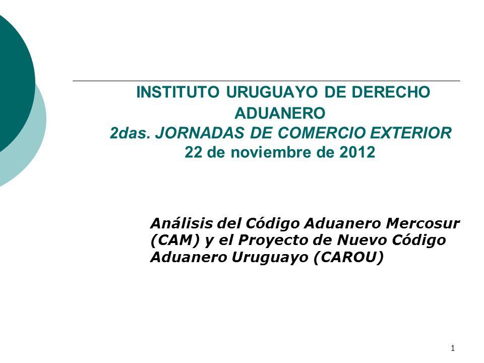INSTITUTO URUGUAYO DE DERECHO ADUANERO 2das