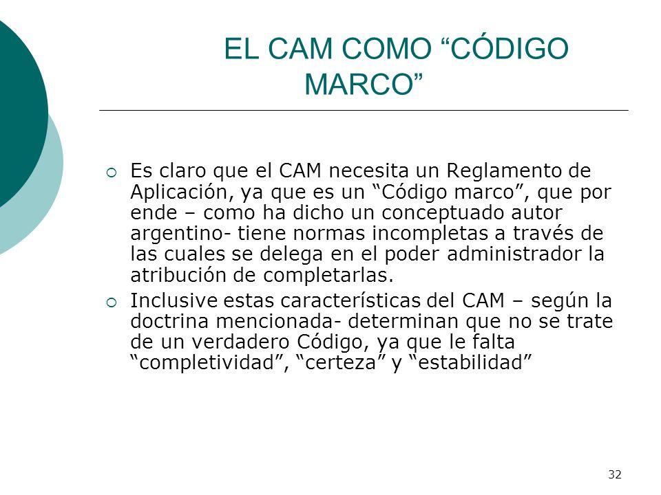 EL CAM COMO CÓDIGO MARCO