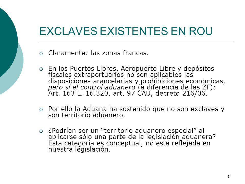 EXCLAVES EXISTENTES EN ROU