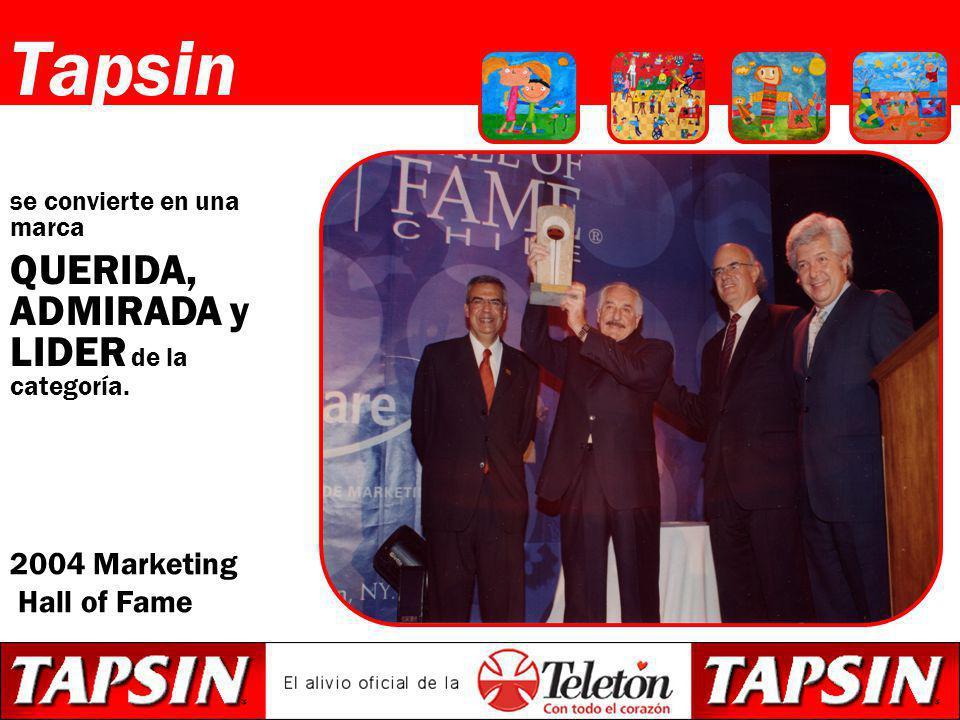 Tapsin QUERIDA, ADMIRADA y LIDER de la categoría. 2004 Marketing