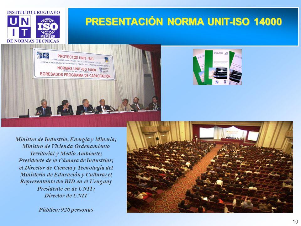 PRESENTACIÓN NORMA UNIT-ISO 14000