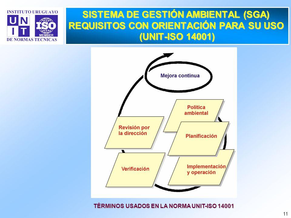 TÉRMINOS USADOS EN LA NORMA UNIT-ISO 14001
