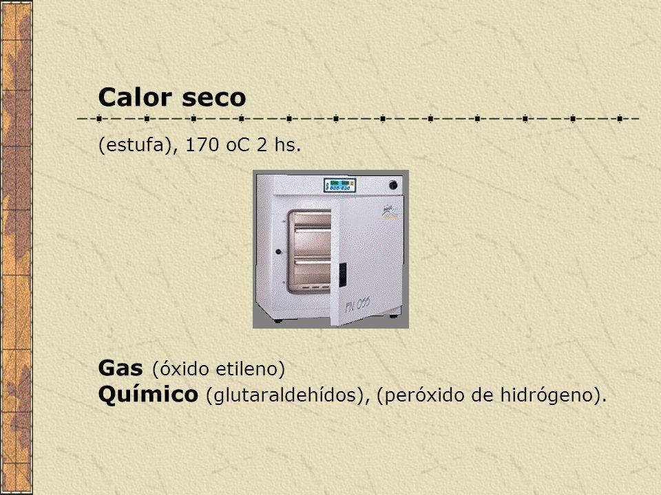 Calor seco Gas (óxido etileno)
