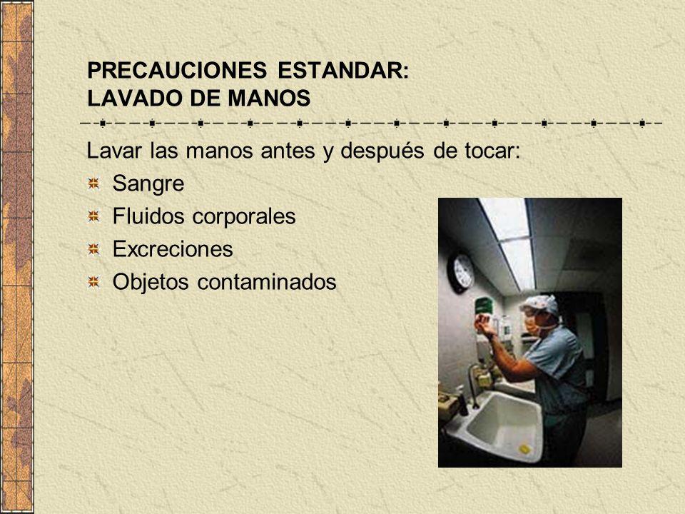 PRECAUCIONES ESTANDAR: LAVADO DE MANOS