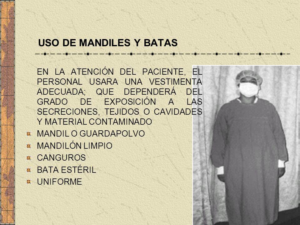 USO DE MANDILES Y BATAS