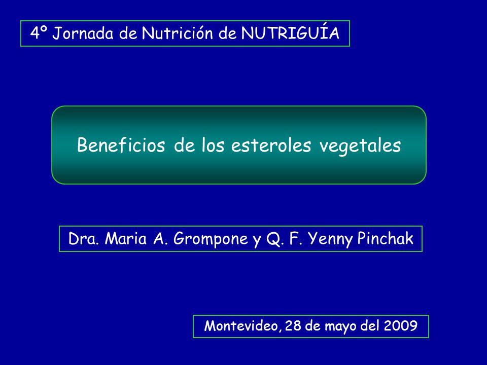 Beneficios de los esteroles vegetales