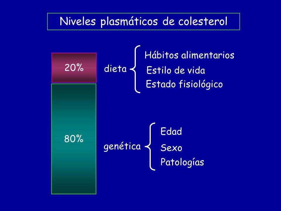 Niveles plasmáticos de colesterol