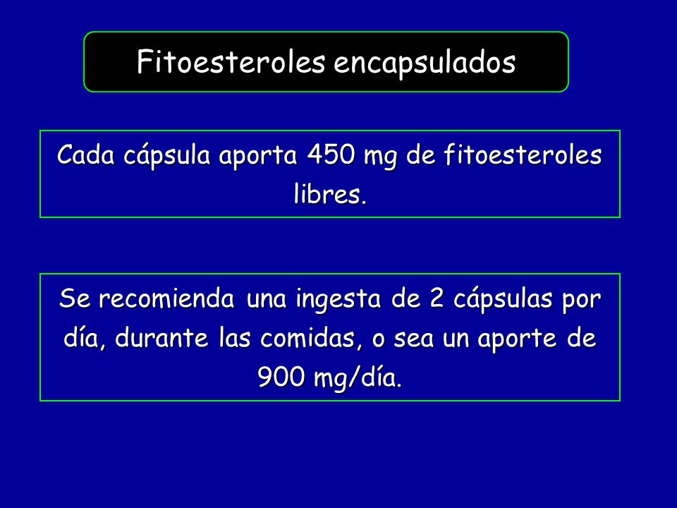 Fitoesteroles encapsulados