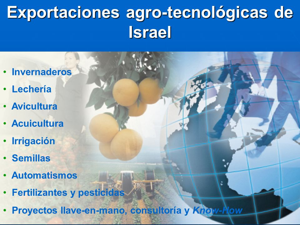 Exportaciones agro-tecnológicas de Israel