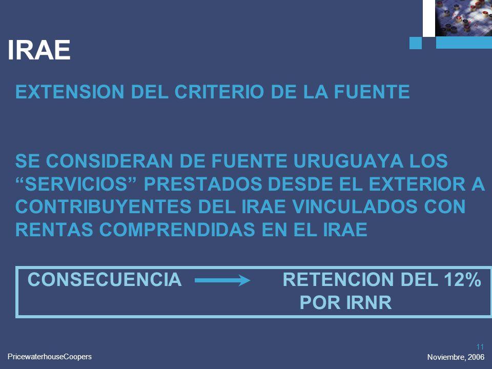 CONSECUENCIA RETENCION DEL 12%