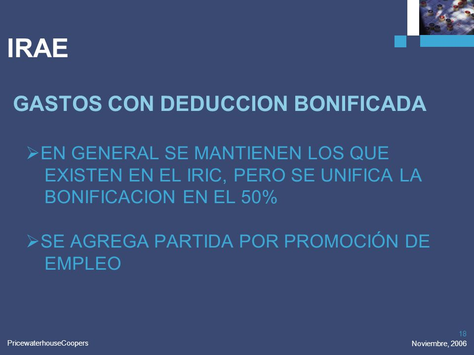 IRAE GASTOS CON DEDUCCION BONIFICADA