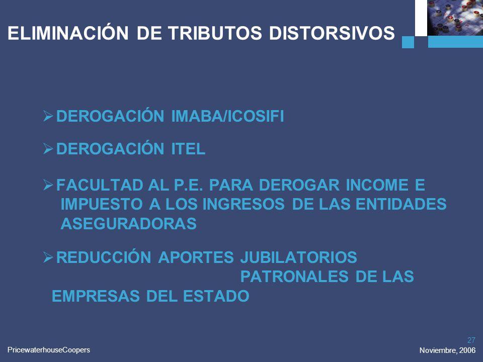 ELIMINACIÓN DE TRIBUTOS DISTORSIVOS
