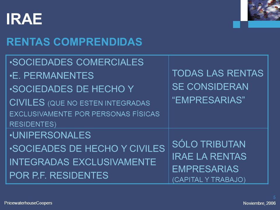 IRAE RENTAS COMPRENDIDAS SOCIEDADES COMERCIALES