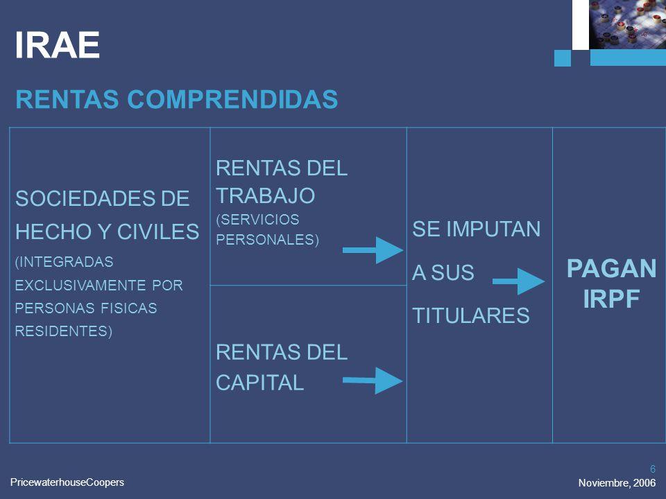 IRAE RENTAS COMPRENDIDAS PAGAN IRPF RENTAS DEL TRABAJO