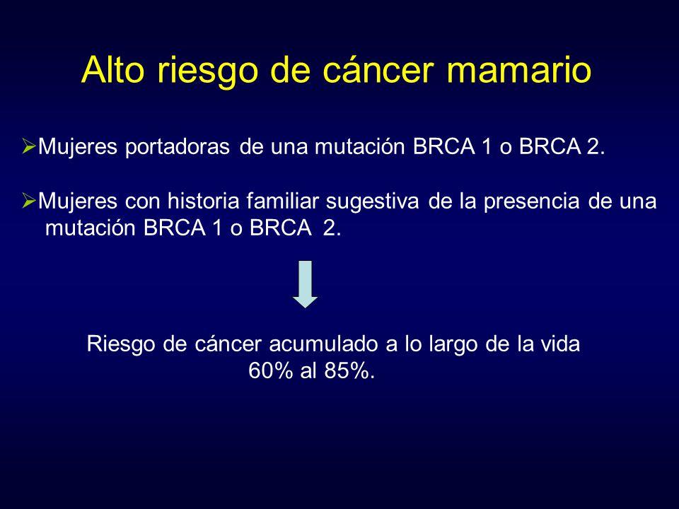 Alto riesgo de cáncer mamario