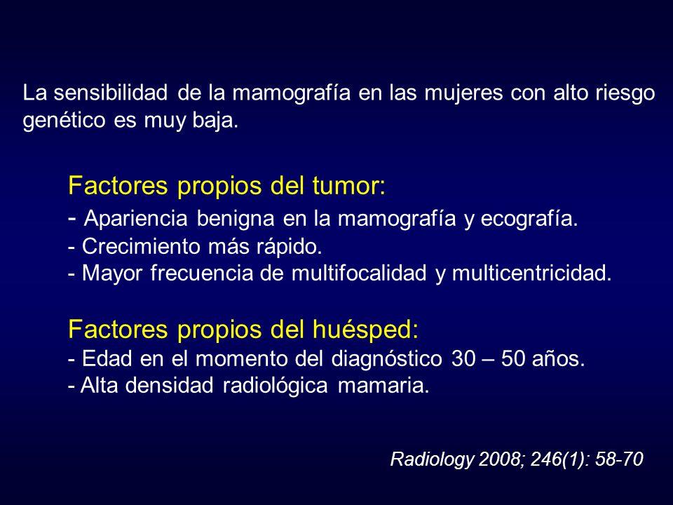 Factores propios del tumor: