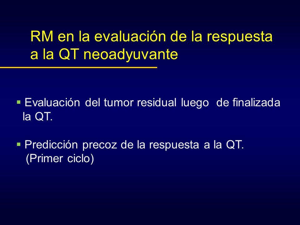 RM en la evaluación de la respuesta a la QT neoadyuvante