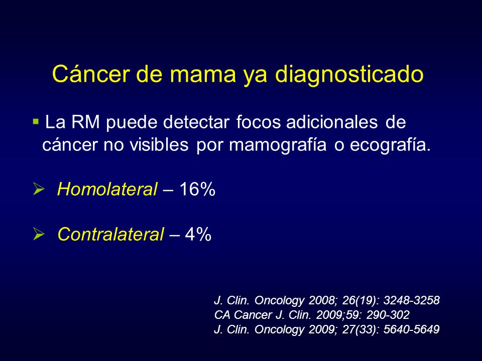 Cáncer de mama ya diagnosticado