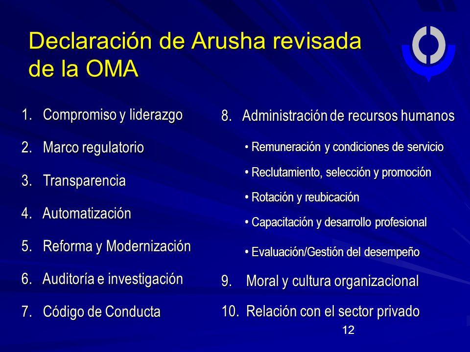 Declaración de Arusha revisada de la OMA