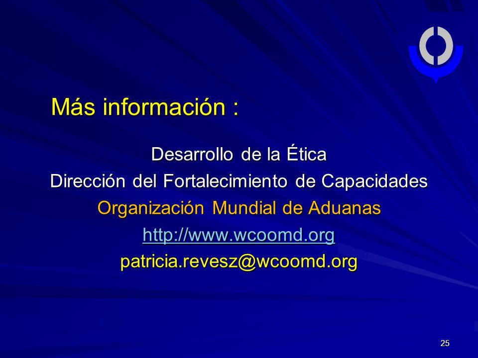 Más información : Desarrollo de la Ética