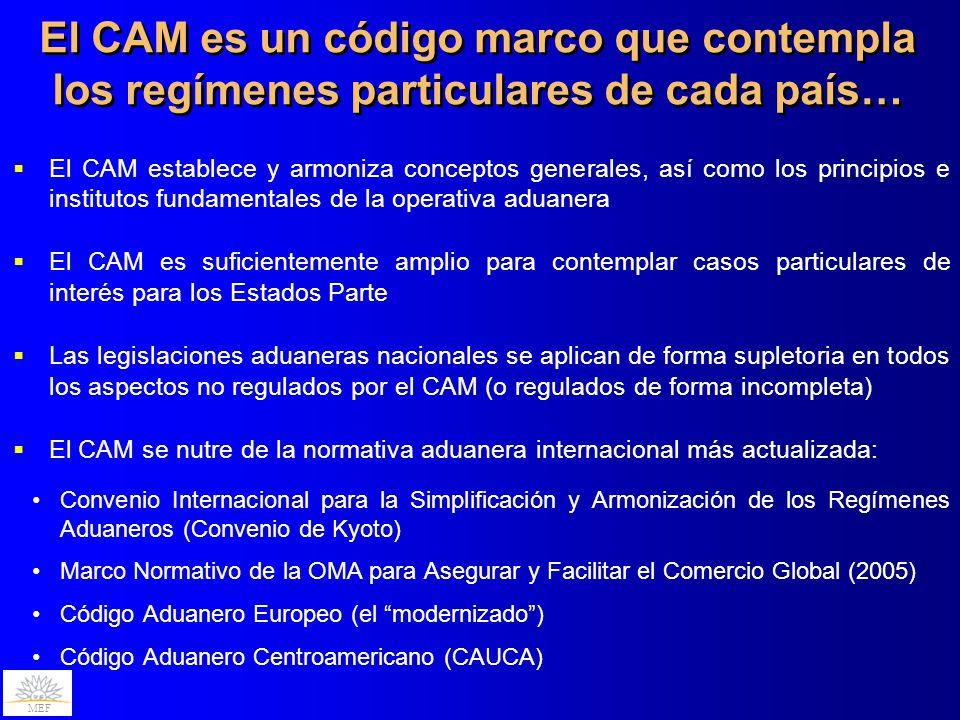 El CAM es un código marco que contempla los regímenes particulares de cada país…