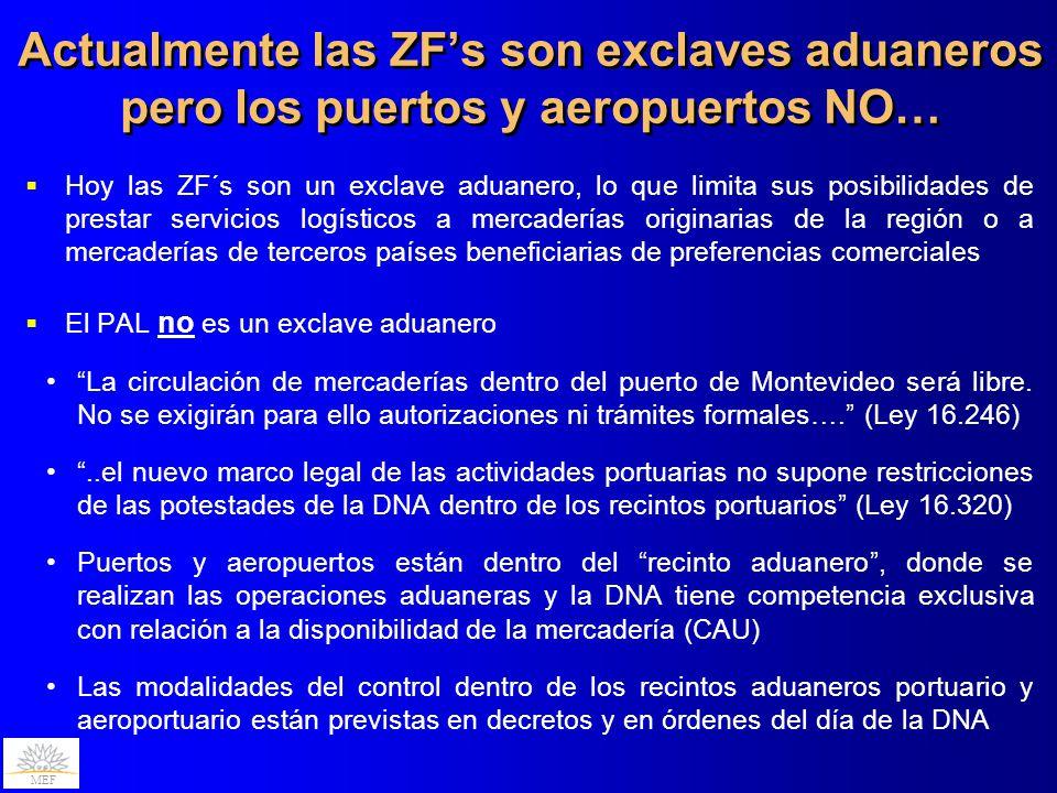 Actualmente las ZF's son exclaves aduaneros pero los puertos y aeropuertos NO…