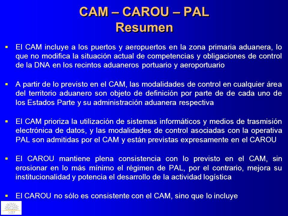 CAM – CAROU – PAL Resumen