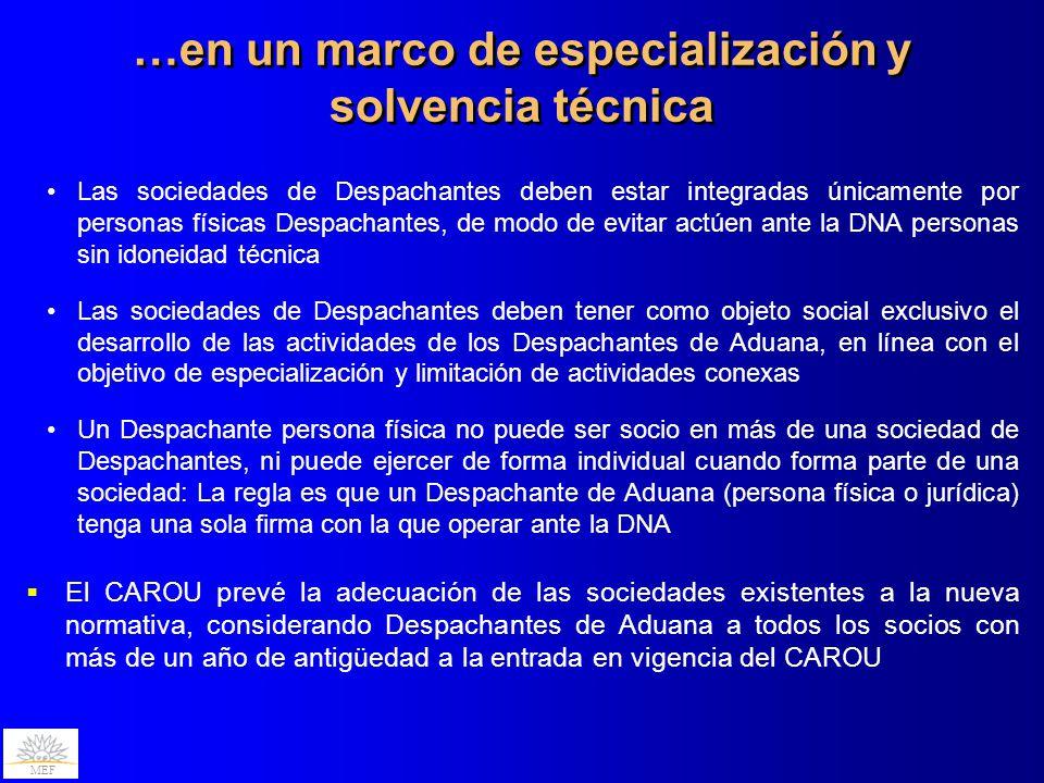 …en un marco de especialización y solvencia técnica